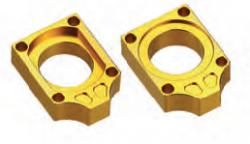 Accel napinacz tylnej ośki ze śrubą - Suzuki RM 125/250 (02-10) - złoty