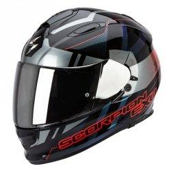 Scorpion Exo-510 AIR STAGE kask motocyklowy czarny-srebrny-czerwony