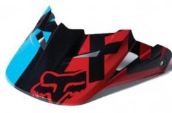 Daszek do Kasku Motocyklowego Fox V-1 Race Blue/Red M-L M/L