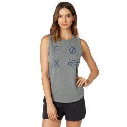 KOSZULKA FOX LADY BEZ RĘKAWÓW STAGED HEATHER GRAPHITE XS