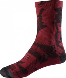 SKARPETY FOX LADY 8 PRINT DARK RED OS