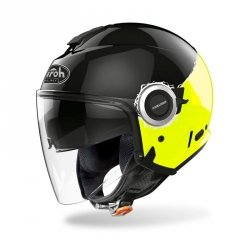 KASK AIROH HELIOS FLUO YELLOW GLOSS M