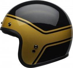KASK BELL CUSTOM 500 DLX STREAK GLOSS BLACK/GOLD XL