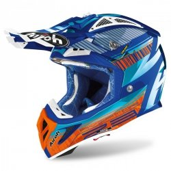 KASK AIROH AVIATOR 2.3 AMS2 NOVAK CHROME AZURE XL
