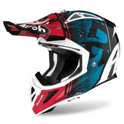 KASK AIROH AVIATOR ACE KYBON BLUE/RED GLOSS M