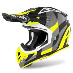 KASK AIROH AVIATOR ACE TRICK YELLOW MATT L