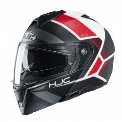 KASK HJC I90 HOLLEN BLACK/WHITE/RED S