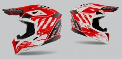 KASK AIROH AVIATOR 3 RAMPAGE RED GLOSS XL