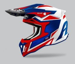 KASK AIROH STRYCKER AXE BLUE/RED GLOSS M
