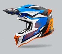 KASK AIROH STRYCKER AXE ORANGE/BLUE MATT L