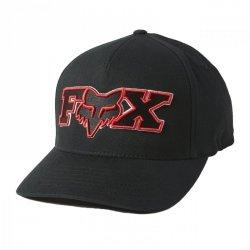 CZAPKA Z DASZKIEM FOX ELLIPSOID FLEXFIT BLACK/RED S/M
