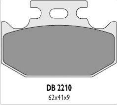 Delta Braking SUZUKI 250 RM (89-95) klocki hamulcowe tył