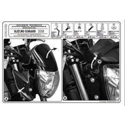 KAPPA mocowanie szyby Suzuki GSR 600 ( 06-11)