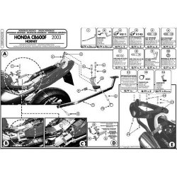 KAPPA stelaż kufra centralnego Honda CB 1300 S (10)