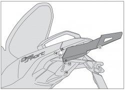 KAPPA stelaż kufra centralnego monolock BMW C600 SPORT (12)
