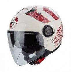 Scorpion EXO-CITY Heritage kask motocyklowy beżowo-czerwony