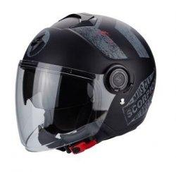 Scorpion EXO-CITY Heritage kask motocyklowy czarny/srebrny mat