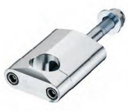 Accel mocowanie kierownicy 28,6mm wysokość 58,5mm ze śrubą M12 - srebrny