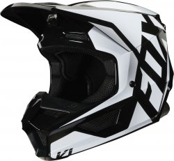 FOX JUNIOR V-1 KASK PRIX BLACK