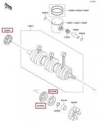 Zestaw uszczelniaczy wału korbowego Kawasaki 1100 ZXI (96-03) Oryginalne Nowe OEM