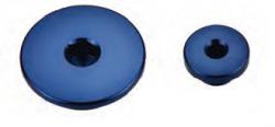 Accel korki inspekcyjne silnika - Yamaha YZF 250F (01-10) - niebieski