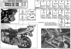 KAPPA K3410 stelaż kufra centralnego Yamaha XJR 1300 (98-02)