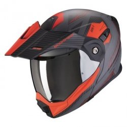 SCORPION KASK MOTOCYKLOWY ADX-1 TUCSON CEMENT GRAY MAT RED