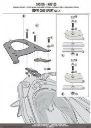 KAPPA stelaż kufra centralnego monokey BMW C600 SPORT (12)