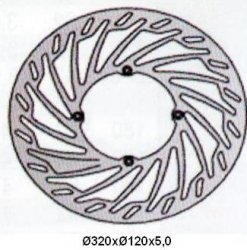 Tarcza hamulcowa przednia Husqvarna CR 250 (00-05-)
