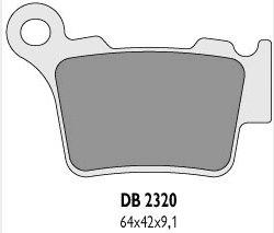Delta Braking KTM 450 SX/SX-F (03-14) klocki hamulcowe tył
