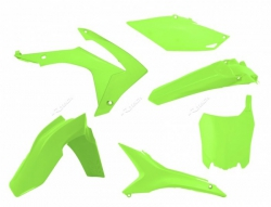 RACETECH KOMPLET PLASTIKÓW HONDA CRF 250R '14-'16, CRF 450R '13-'16 KOLOR ŻÓŁTY FLUO (Z TABLICĄ I OSŁONĄ FILTRA)