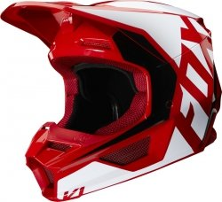 FOX V-1 KASK PRIX FLAME RED