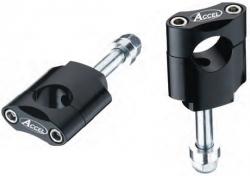 Accel mocowanie kierownicy 22,2mm wysokość 45mm ze śrubą M12 - czarny