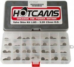 HOT CAMS Zestaw Komplet płytek zaworowych do KAWASAKI średnica 13mm (szer. od 1,85 do 3,20mm)