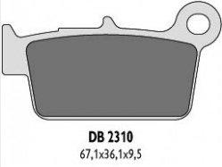 Delta Braking KAWASAKI 450 KLX (07-13) klocki hamulcowe tył