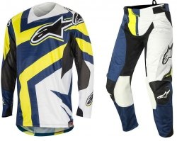 Alpinestars Techstar Factory spodnie motoyklowe 38 + bluza motocyklowa XL - Komplet odzieży MX enduro Wyprzedaż Kolekcji!!