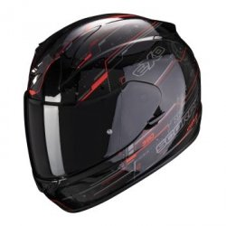 SCORPION KASK MOTOCYKLOWY EXO-390 BEAT BLACK-NEON RED