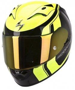 Scorpion Exo-1200 AIR STREAM TOUR kask motocyklowy czarny-żółty fluo
