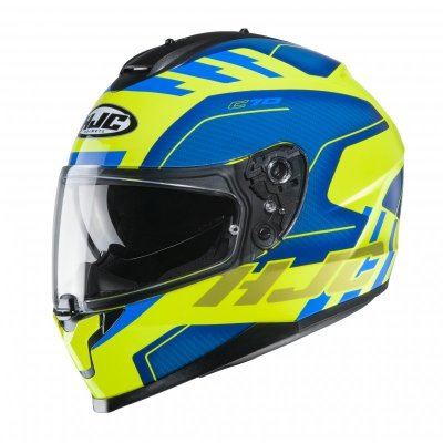 KASK HJC C70 KORO BLUE/FLO YELLOW XL