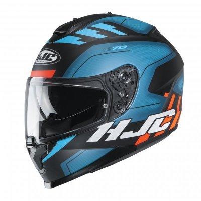 KASK HJC C70 KORO BLUE/BLACK/ORANGE XL