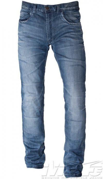 Mottowear Gallante jeansy spodnie motocyklowe niebieskie