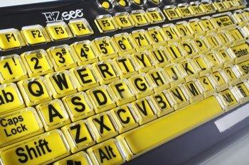 Klawiatura EZ-See - żółta