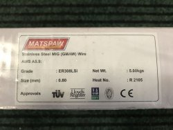Drut spawalniczy 308LSi 0,8/5 kg Matspaw