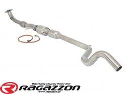 Elastyczna rura + tłumik środkowy + katalizator metaliczny RAGAZZON EVO LINE sportowy wydech