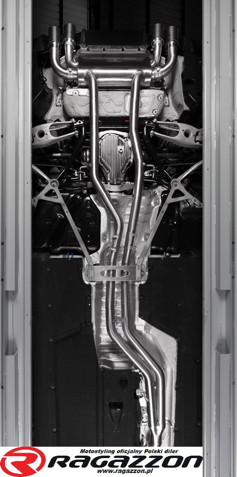 CATBACK tłumik środkowy przelotowy i końcowy z zaworem CARBON RAGAZZON EVO LINE sportowy wydech