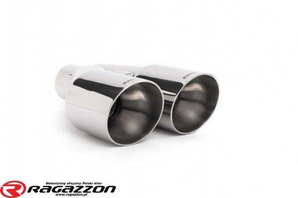 Tłumik końcowy + katalizator metaliczny RAGAZZON EVO LINE sportowy wydech