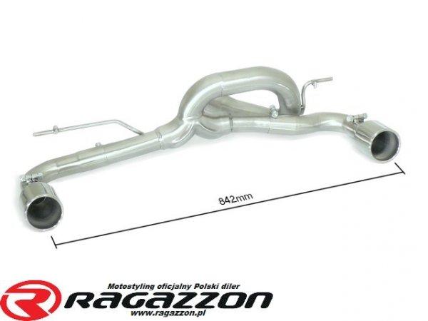 Tłumik końcowy podwójny przelotowy RAGAZZON EVO LINE RIEGER sportowy wydech
