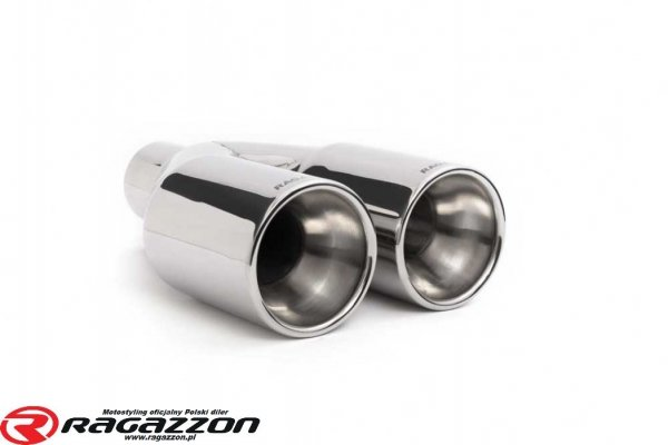 Tłumik końcowy + katalizator RAGAZZON Smart Fortwo (typ451) 999cc 72kW BRABUS sportowy wydech