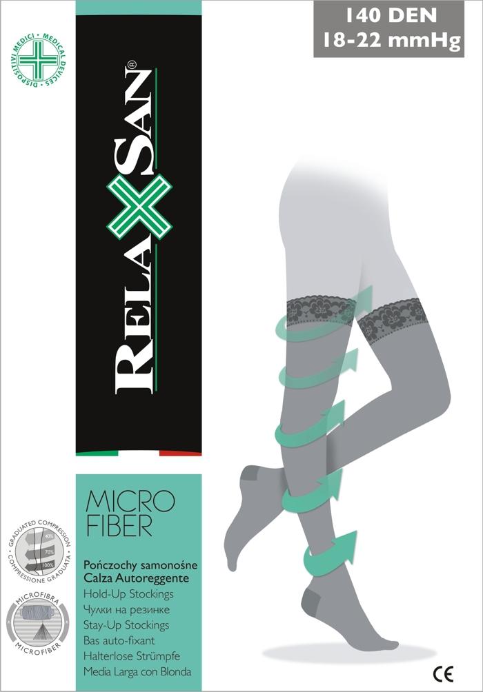 4d15a00a3dd491 RELAXSAN Pończochy samonośne przeciwżylakowe MICROFIBRA 140 den (18-22 mmHg)