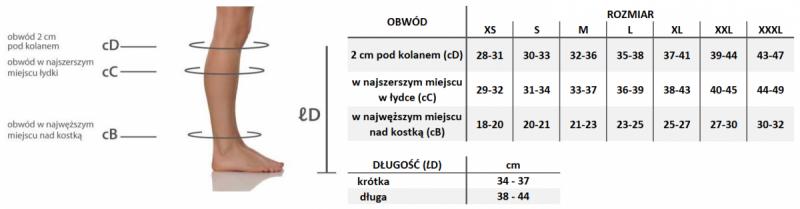 PANI TERESA CLASSIC Podkolanówki przeciwżylakowe 2 stopnia kompresji